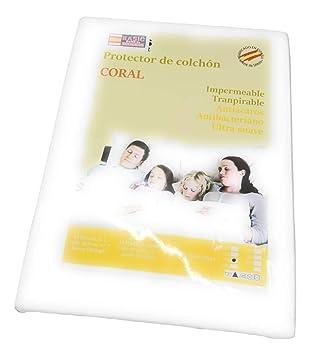 D&D Basic Home Protector de Colchón CORALINA Impermeable y Transpirable 150X190/200+23