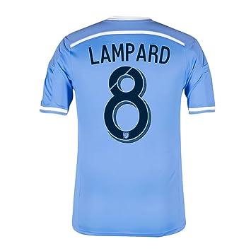 Adidas LAMPARD #8 New York City FC Camiseta 1ra 2016 (Azul Claro) (Tamaño De Los EE.UU) (US size_XL): Amazon.es: Deportes y aire libre