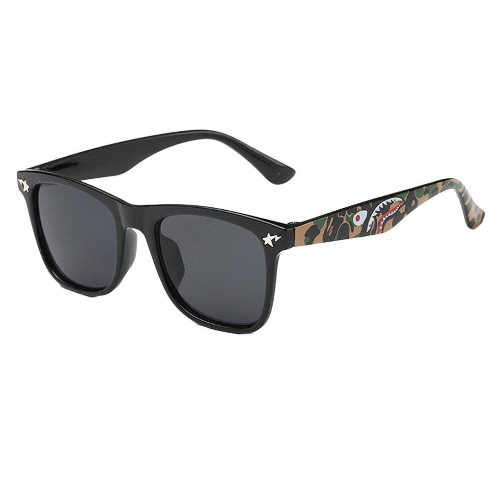 Evebright Kids 80's Classic Retro Shark Wayfarer Sunglasses Uv400
