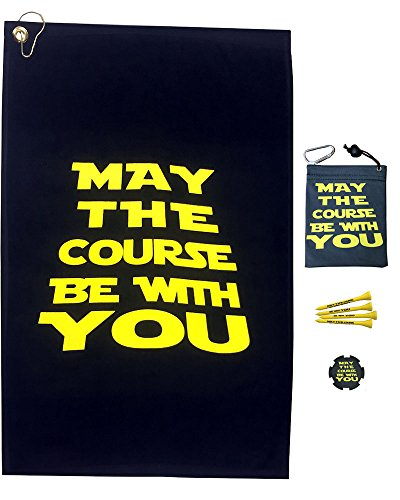 Velour Bag Towel (Giggle Golf May The Course Be With You Towel & Tee Bag Combo)