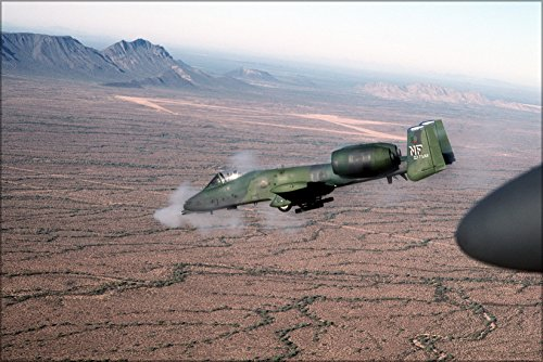 Poster Oa-10 Thunderbolt Ii Warthog Firing Gau-8A Avenger Cannon