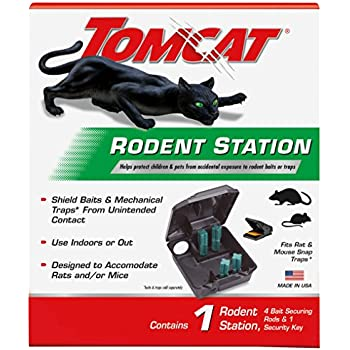 Tomcat Rodent Station | For Rats, Mice, Rodents & Other Pests | Use Indoors or Outdoors