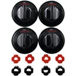 Range Kleen 8214 Gas Knobs (4-Pk, Black)