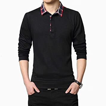 NISHIPANGZI Polo Shirt Hombres más Grandes Hombres Camiseta Camisa ...