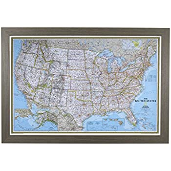 amazon com executive us push pin travel map with black frame and