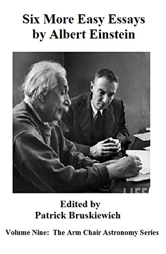 Reflective Essay Thesis Statement Examples Six More Easy Essays  By Albert Einstein The Arm Chair Astronomy Series  Book  Modest Proposal Essay Examples also Essay English Example Six More Easy Essays  By Albert Einstein The Arm Chair Astronomy  Christmas Essay In English