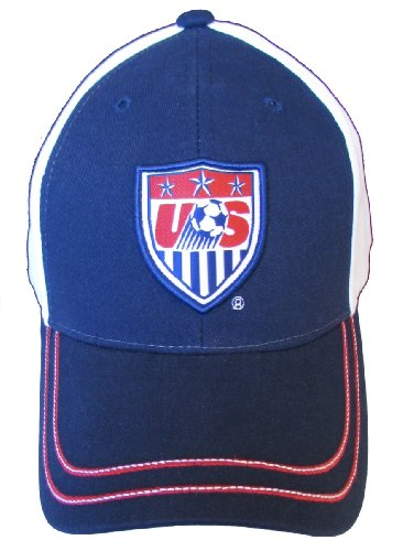 Team USA Soccer 2014 World Cup Adjustable Baseball Hat Cap - White and Blue (White/Blue)