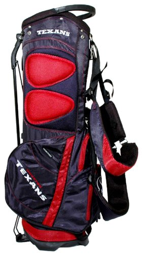 (Team Golf NFL Houston Texans Fairway Golf Stand Bag, Lightweight, 14-way Top, Spring Action Stand, Insulated Cooler Pocket, Padded Strap, Umbrella Holder & Removable Rain)