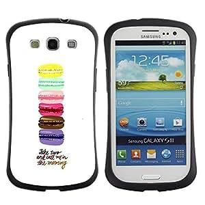 "Pulsar iFace Series Tpu silicona Carcasa Funda Case para SAMSUNG Galaxy S3 III / i9300 / i747 , Macarrones Azul Amarillo Rosa púrpura de Brown"""