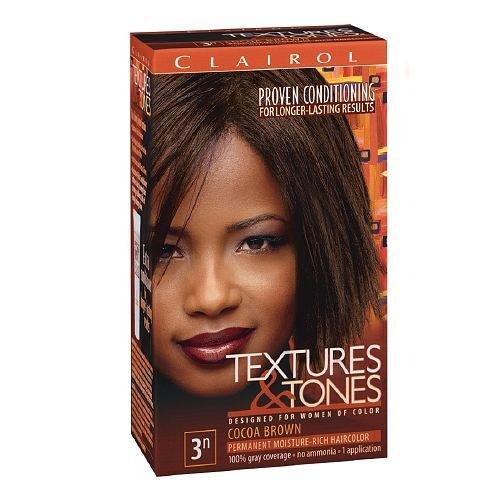 Clairol Textures & Tones Hair Color, Cocoa Brown 3N 1 ea (3n Cocoa)