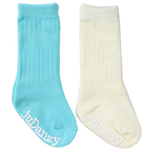 juDanzy knee high tube socks for boys, girls, baby, toddler & child (12-24 Months, Rickey Ribbed)