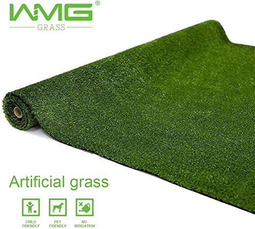 WMG Artificial Grass Lawn8 x82 Customize Synthetic Turf Grass Rug Grass Height 0.4 Green Fake Grass for Home Backyard Patio Balcony Indoor Outdoor D cor