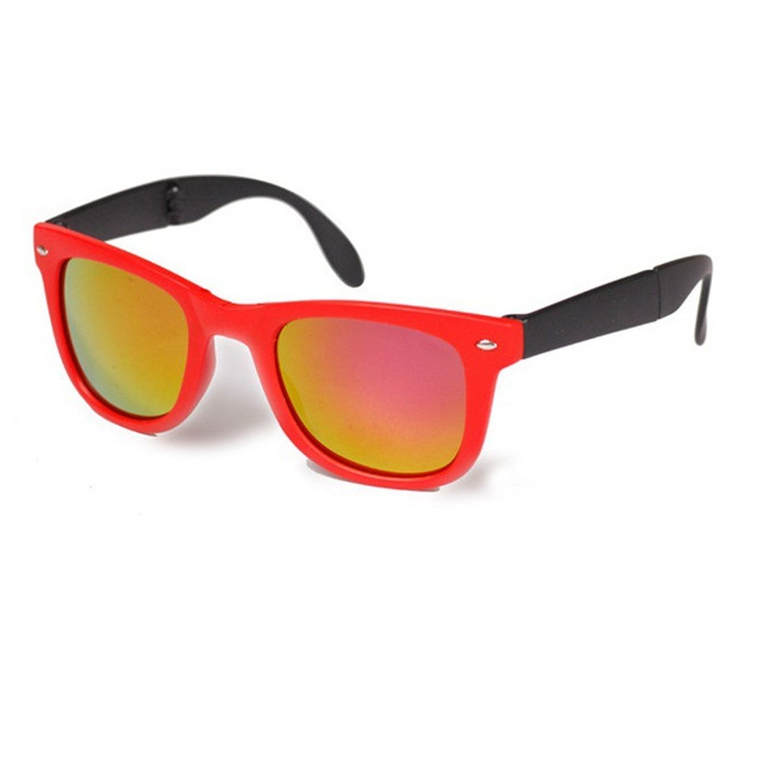NoyoKere Gafas de sol plegables unisex con caja original Gafas plegables con caja Gafas de sol transparentes dobladas negro
