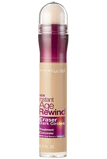 Maybelline New York Instant Age Rewind Eraser Dark Circles Treatment Concealer Makeup, Sand, 0.2 fl. oz.