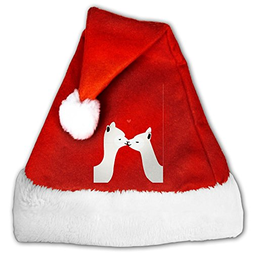 Coffee Cup Costumes Pattern (Chrihapy Asmlie Llama Love Santa Hat Plush Christmas Hat Decorations For Kids And Adults Unique Gifts)