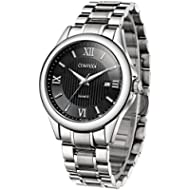 [Sponsored]Comtex Men's Watches Black Quartz Analog with Stainless Steel Bracelet Date Window...