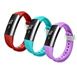 Fitbit Alta Bands,Greeninsync Fitbit Alta Accessory Replacement Band Small for Fitbit Alta Wristbands Available in 18 Colors with Metal Clasp and Ultrathin Fastener (3pack)