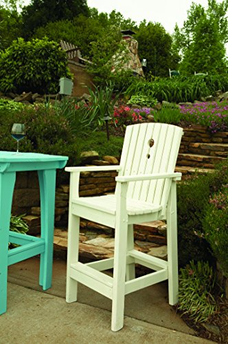 Uwharrie Chair Co 5064-31-Twilight Blue-Dist-Pine Tall Dining Chair, Twilight Blue-Distressed