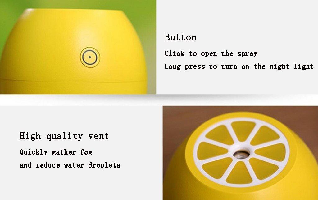 MTBHW Mini Humectador del Limón del USB del Escritorio del Coche De Escritorio Silencioso del Espray Pequeño Purificador,Blue: Amazon.es: Hogar