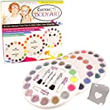 """Glitter Tattoo Kit by Custom Body Art® 26 Color """"Master"""" Glitter & Body Art Set with 26 Large Glitter Colors, 50 Uniquely Themed Temporary Tattoo Stencils, 4 Glue Applicator Bottles & 8 Glitter Brushes. The Perfect Kit for Fashionable Party Fun for Children, Teenagers & Adults."""