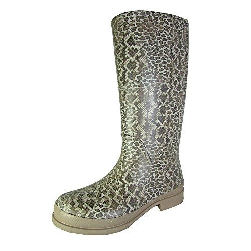 Croc Print Boots - Crocs Womens Wellie Leopard Print Rain Boot Shoes, Graphite/Sand Dune, US 10