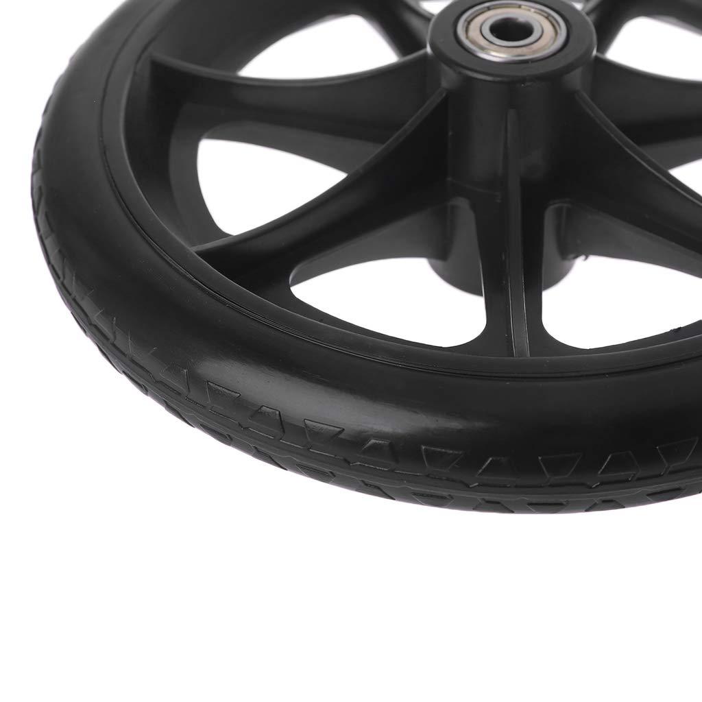 YUYUE21 2pcs roulettes de Fauteuil Roulant 8 Pouces avec Accessoires de Roue de Chaise de roulement