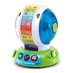 Learn about animals and letters with every spin! the alphabet zoo ball is an interactive spinning toy that features three modes of play. Your little one will have a ball as they press the three light-up buttons to learn letter names, animal names and...