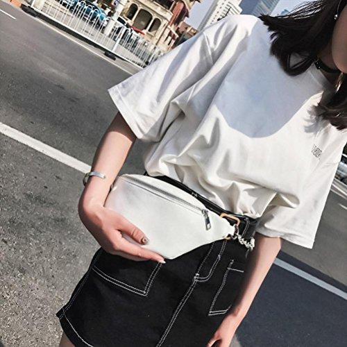 VIASA Women Fashion Sexy Lady Chain Leather Messenger Bag Shoulder Bag Chest Bag (White) by VIASA_bag (Image #3)