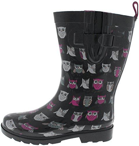 Boot Rain Two Calf Capelli Mid Bird Black New York Ladies Rubber Tone 8qwnOfz7