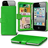 ( Green 4 inch ) case for Alba 4 2017 Case cover pouch High Quality Thin Faux Leather Holdit Spring Clamp Clip on Adjustable Wallet case cover Skin With Credit/Debit Alba 4 2017 Case by i-Tronixs
