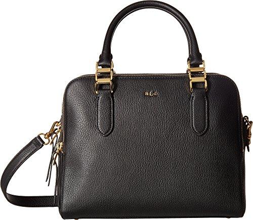 LAUREN Ralph Lauren Women's Rawson Callie Medium Satchel Black Handbag