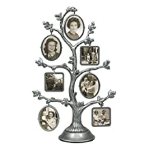 Malden 6584-70 Family Tree Fashion Metal Frame, 2-Sided with 14-Small Frames