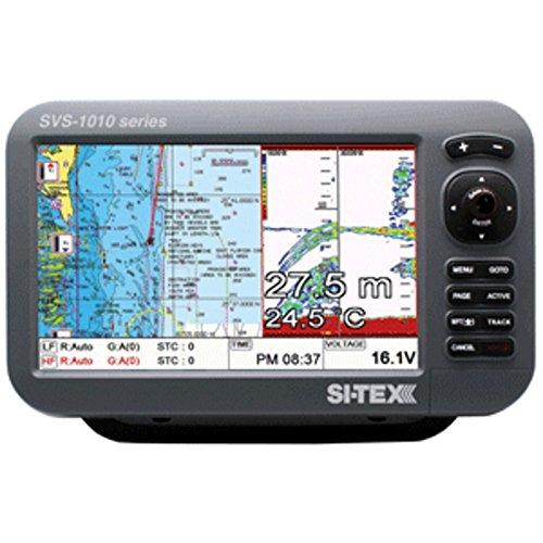 SI-TEX SVS-1010CF 10 Chartplotter/Sounder Combo w/Internal GPS Antenna & Navionics+ Card Marine , Boating Equipment (Antenna Gps Internal Sounder)