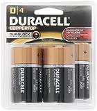 Duracell  Coppertop D Alkaline Batteries, 4 Count