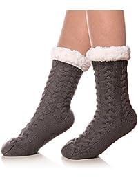 Women's Winter Super Soft Warm Cozy Fuzzy Fleece-lined...