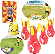 ToyerZ DARTZ, 4 Inflatable Lawn Darts for Fun. Indoor and Outdoors Game for Kids and Adults. Backyard Family G