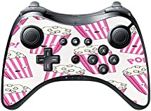 Popcorn Pink and White Boxes Cute Wii U Pro Controller Vinyl Decal Sticker Skin by Debbie's Designs by Debbie's Designs