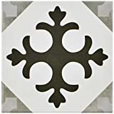 SomerTile FCVAANLA Antracita Latin Peintre Porcelain Floor and Wall Tile, 5.875'' x 5.875''