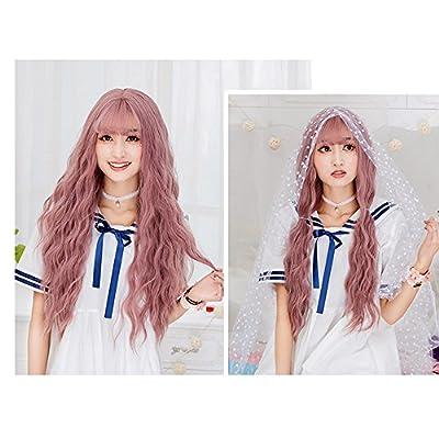 Netgo Women's Wig Long Fluffy Curly Wavy Hair Wigs for Girl Heat Friendly Synthetic Wigs