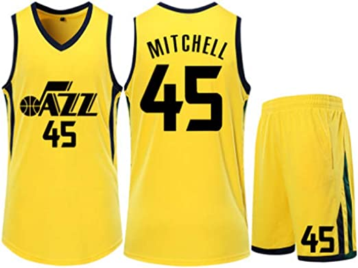 XSJY Camiseta De Baloncesto De Los Hombres - NBA Utah Jazz # 45 Donovan Mitchell Adultos Unisex Niños Transpirable Baloncesto Ropa Deportiva Set,XL:165~170cm: Amazon.es: Hogar