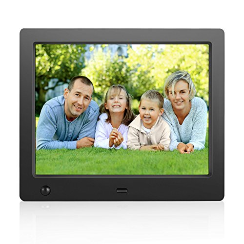 Digital Picture Frame 8 inch Electronic Digital Photo Frame IPS 4:3 1024×768 Display with Motion Sensor 1080P 720P Video Player Stereo/MP3/Calendar/Time …