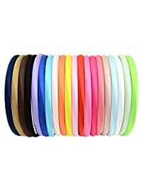 Girls Satin Hairband Plain Headband - 20Pcs Girl Headband DIY Hair Hoops