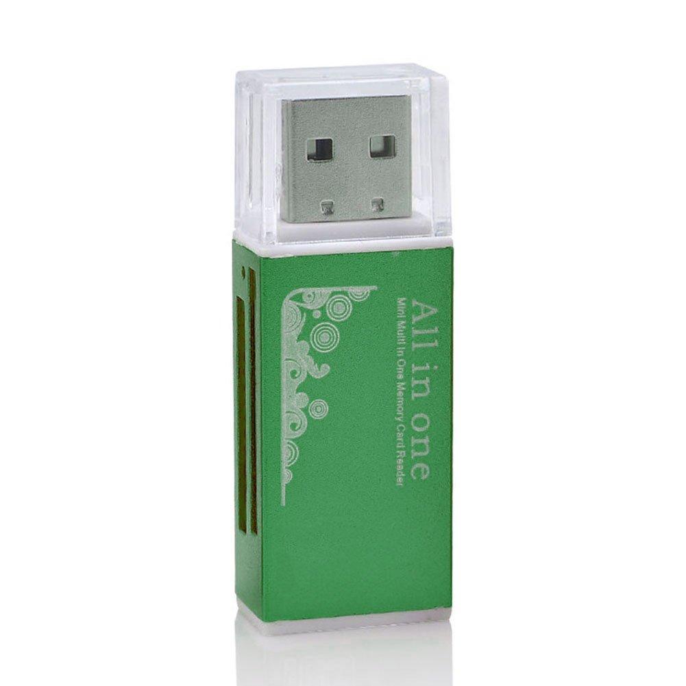 All in One 1 USB Flash Memory SD SDHC Mini Micro M2 MMC Multi Card Reader Writer