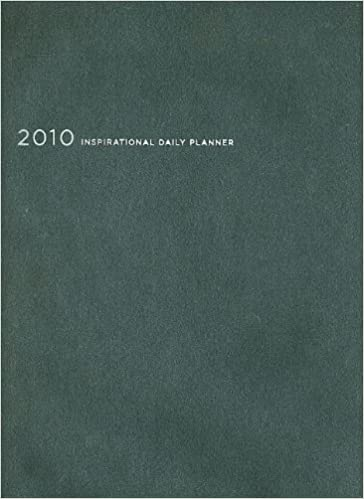 2010 Inspirational Daily Planner Black Leathersoft