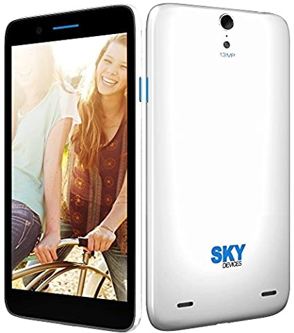 SKY Devices 5.5Q - White (Discontinued) (Iphone S5 Unlocked Gold)