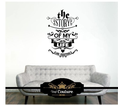 One Direction Vinyl Wall Art Vinyl Wall Lettering Words Sticky Art Home  Decor Quotes Stickers Decals: Amazon.co.uk: Kitchen U0026 Home