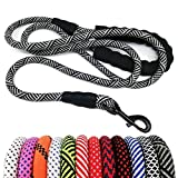 MayPaw Heavy Duty Rope Dog Leash 6Ft, 1/2' Thick Nylon Pet Training Leash, Soft Padded Handle Lead Leash for Large Medium Dogs