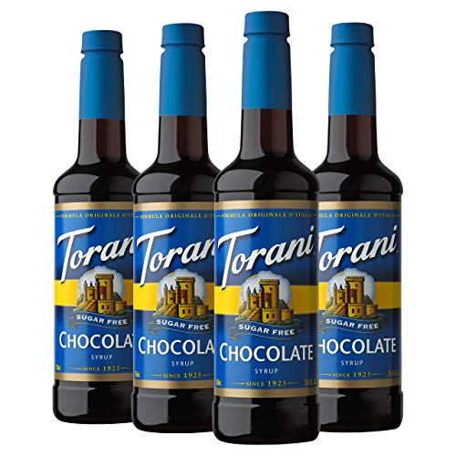 Torani Sugar Free Syrup, Chocolate, 25.4 Ounces (Pack of 4) (Sugar Free White Chocolate Syrup)
