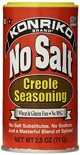 Konriko No Salt Creole Seasoning, 2.5 Ounce (Best Store Bought Cajun Seasoning)