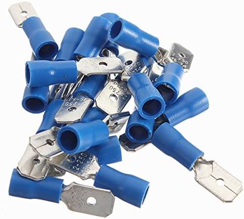 Queenwind 20pcs 1.5-2.5 mm 2オス絶縁電気圧着端子コネクタ